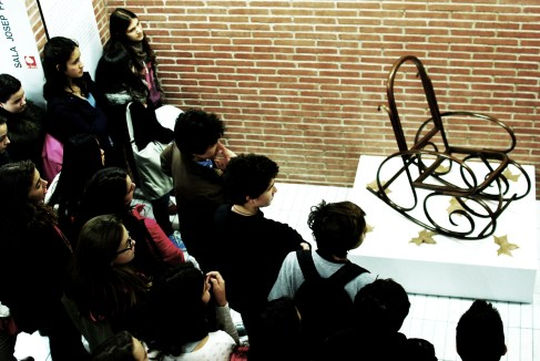 Els alumnes reflexionen entorn a la instal·lació