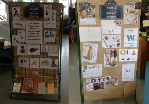 Mostra de l'exposició realitzada a la biblioteca de l'escola.